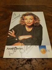 Signed Postcard Anne Davies GMTV