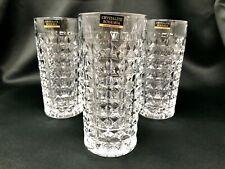 Highball Crystal Glass Set of 6 Tumblers 8 oz Water Whiskey Vodka Juice Bohemia