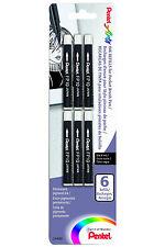 Pentel Pocket Brush Pen Refill 6/Pack
