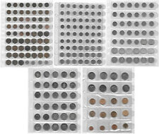 NETHERLANDS 1 CENT-5 GULDEN COLLECTION OF 218 Coins In 5 Pages incl. Silver M2