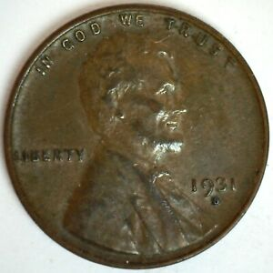 1931 D Lincoln Wheat Cent Coin 1c US Penny Extra Fine Circulated Denver Minted