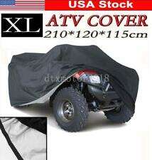 XL Black Waterproof ATV Cover For Honda Can-Am Polaris Kawasaki Suzuki Yamaha US