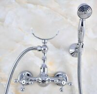 New Chrome Classic Hand Held Handheld Shower Head Wall Shower Bracket Ksh060