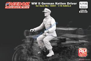 FREEDOM 616001 1/16 WW.II German Sd.kfz.2 Kettten Kraftrad Driver Figure