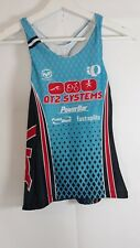 Pearl Izumi Cycling Size M Top Blue QT2 Systems Racing Jersey Power Bar Racer Ba