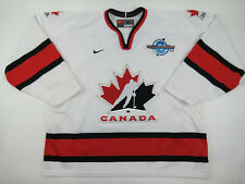 2004 Nike Team Canada World Cup of Hockey Player Jersey White Made in Canada XL