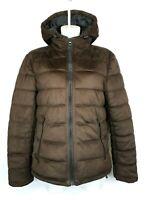 M2) ZARA Damen Jacke Winterjacke Steppjacke mit Kapuze Gr. M 38 top Zustand