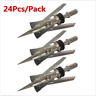 "24pcs Broadheads Expandable 2 Blade Arrow Head 100 Grain 2.3"" Cut Archery Points"