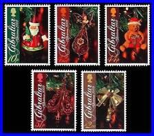 GIBRALTAR 2009 CHRISTMAS SC#1216-20 MNH CV$11.50 TOYS, ANGEL, TEDDY BEAR (3ALL)