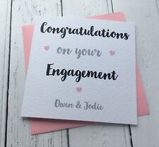 Beautiful Simple Personalised Congratulations On Your Engagement Card Wedding