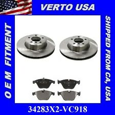 REAR SET Posi Quiet Ceramic Brake Disc Pads + Hardware Kit LOW DUST 105.06831
