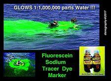 FLUORESCEIN Sodium UV Ultraviolet Dye Tracer - 4oz. / 40% Concentration