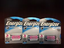 6 x Energizer AAA Lithium Batteries, Lasts Up To 7x Longer! Fresh