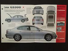 1998 Lexus GS300 IMP Hot Cars Spec Sheet Folder Brochure RARE