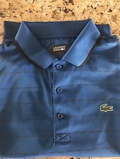 Lacoste Men's Sport Short Sleeve Ultra Dry Polo Shirt, blue, black trim 7/XXL