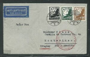 1935 CONDOR ZEPPELIN cover - Hannover GERMANY to Montevideo URUGUAY