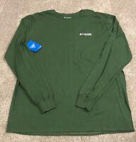 Mens Columbia PHG Elements of Hunting Long Sleeve Shirt Green Sz 2XL NWT