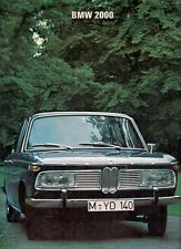 BMW 2000 Saloon 1966-68 UK Market Sales Brochure