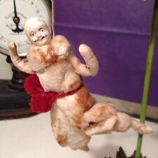 Antique Cotton Batting Figural Dancing Man Christmas Tree Ornament