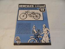 altes Prospekt Hercules Liliput 98er 98ccm