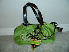 JUICY COUTURE Green Velour, Embroidered Logo Handbag/Satchel/Purse~NWT $198