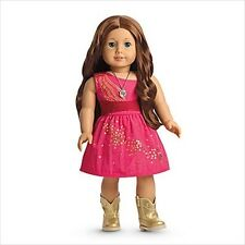 American Girl SAIGE SPARKLE DRESS NIB pink fancy boots necklace  NO DOLL