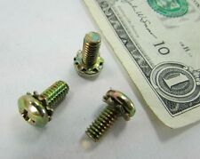 "Lot 100 #8-32 x 3/8"" Phillips Pan Hd Sem Machine Screw External Tooth Lockwasher"