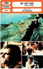 FICHE CINEMA : MY LEFT FOOT - Day-Lewis,Fricker,Whelan,Sheridan 1989