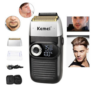 Men Cordless Electric Foil Shaver Mini Travel Trimmer Wet Dry Washable Razor