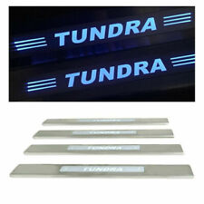4xBlue LED light Car 4 Door sill scuff plate Guard Sills for Toyota Tundra 08-17