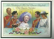 Belize - Queen Mother 85th Birthday - Mint NH Miniature Sheet