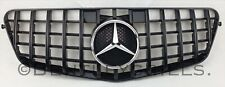 Mercedes W212 E Class Grille Panamericana AMG Grill 2009-2013 Black Chrome Star