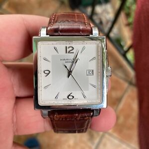 HAMILTON Jazzmaster Square H324150 automatic watch working condition