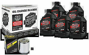 Maxima Quick Change Synthetic 20W-50 Filter Kit W/ Chrome Filter Twin 90-119014C