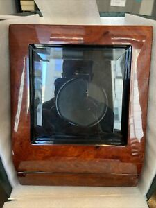 NEW Orbita Siena 1 Single Automatic Watch Winder - Programmable Burl Wood W13006