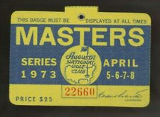 1973 Masters Badge Tommy Aaron Golf Champion At The Augusta National Club