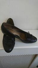 "CLARKS BLACK LEATHER SYLISH ""BLOSSOM TREE"" MID HEEL LADIES SHOES  4D WORN ONCE"