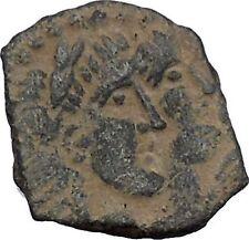 King Rabbel II Gamilat Arab Caravan Kingdom of Nabataea 101AD Greek Coin i50432