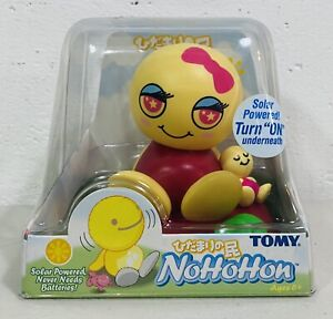 2003 Tomy NoHoHon Solar Powered Figure Girl with Pink Bow Bobble Toy RARE Japan