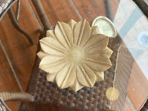 Antique Marble Stone Hand Carved Lotus Shape Decorative Bowl Plate Soap Bowl