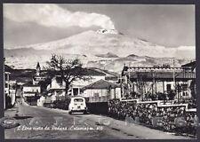 CATANIA ETNA 08 PEDARA - VULCANO Cartolina FOTOGRAFICA viaggiata 1963