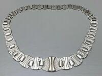 """Massives 925 Silber Collier Handarbeit Meisterpunze """"at"""" 30er Jahre Art Deco/A37"""