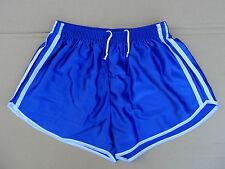 Frz. Vintage Shorts Gr.L NEU kurze Sporthose Sport Nylon Glanz 80er retro blau