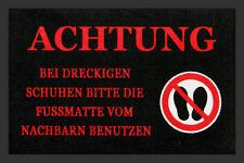 Fußmatte BEI DRECKIGEN SCHUHEN Sprüche Fussmatte Schmutzmatte Türvorleger
