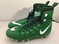 Mens Nike Force Savage Elite Apple Green White Linemen Football Cleats Size 11