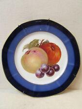 ancienne assiette decorative porcelaine de limoges M&D pommes raisin plat
