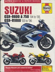 """SUZUKI GSXR600,GSXR750 K4,K5,GSXR1000 K3,K4,K5,K6 HAYNES MANUAL 2003-2006 """"NOS"""""""