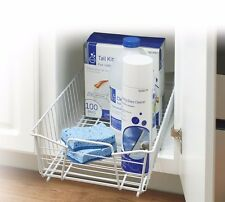Kitchen Cabinet Chemical Organizer Pull-Out Rolling Wire-Bin Rack Basket Holder