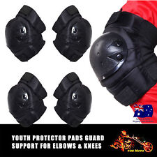 TDRMOTO Kids Tactical Protective Elbow and Knee Pad Set