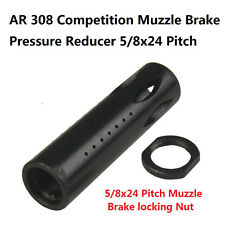 308 .308 Competition Muzzle Brake Pressure Reducer 5/8x24 Pitc With Lock Nut
